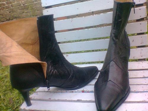 botas de cuero 100% con suela febo