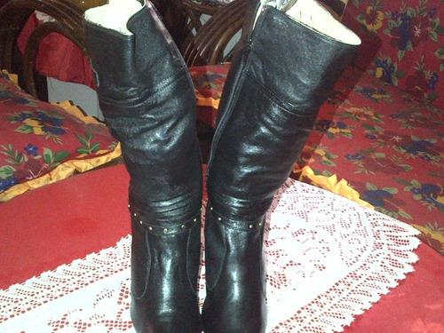botas de cuero 100% dama nuevas