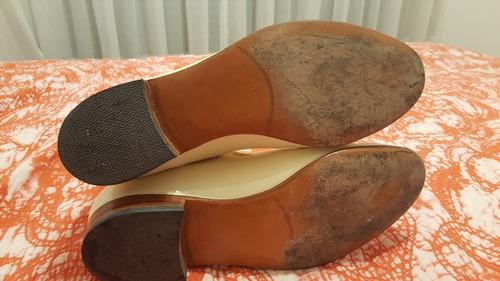 botas de cuero acharolado un solo uso excelente estado