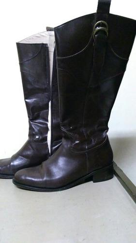 botas de cuero caña alta
