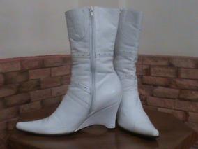 Botas Blancas Para Damas Zapatos, Usado en Mercado Libre