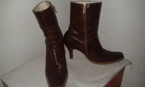 botas de cuero dama talla  36