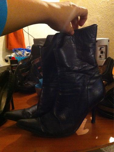 botas de cuero de  mujer como nuevas