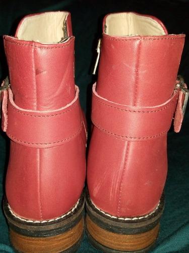 botas de cuero, forradas, nuevas