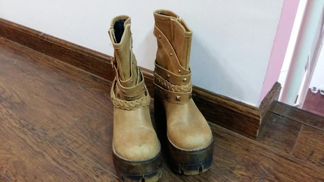 d6b3924a6 botas de cuero media caña. color camel. Cargando zoom.
