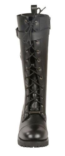 botas de cuero milwaukee altas p/dama hebilla pant negra 6.5