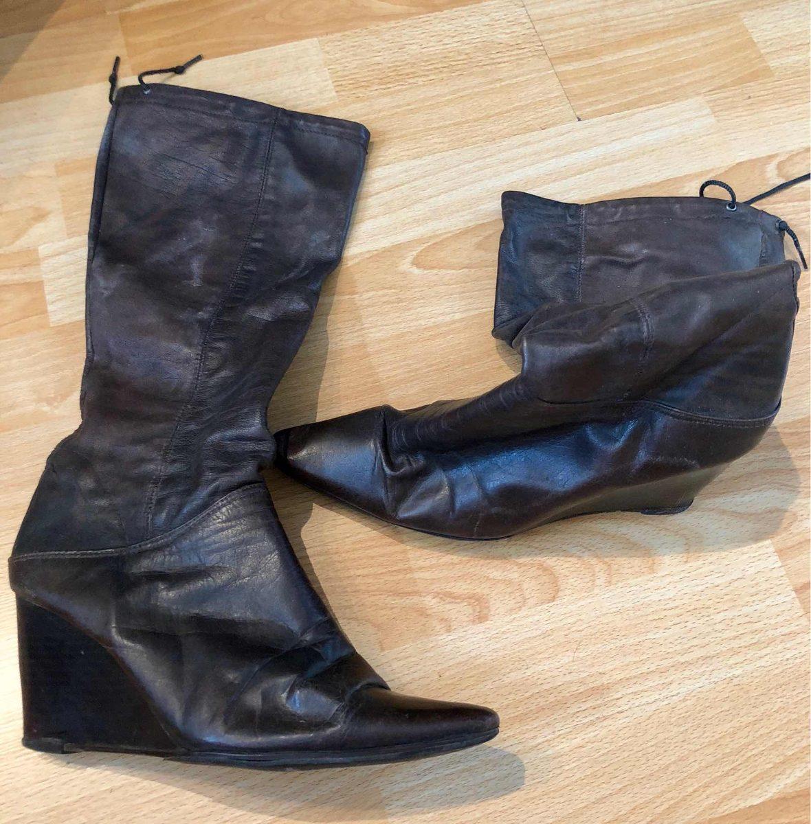 5d7810ade8b botas de cuero mujer caña alta. Cargando zoom.