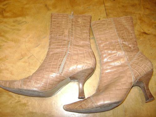 botas de cuero paula caen d anvers
