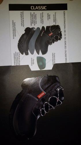 botas de cuero punta de acero placa anti-clavos m. bellota