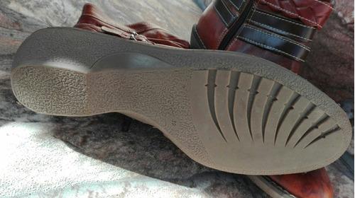 botas de cuero tipo tejanas
