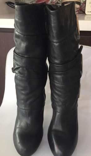 botas de cuero vía uno