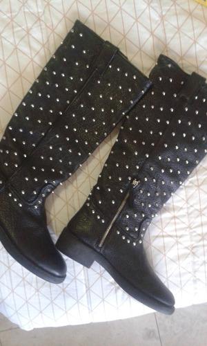 botas de cuero zara  dama auténtica piel t 39