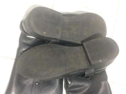 botas de cuero zara. impecables! talle 35