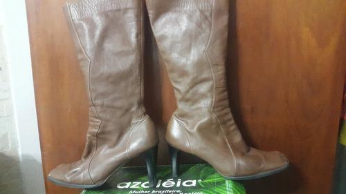 botas de dama 100% cuero piel legitima mandarin