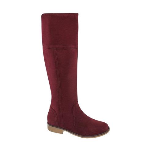 botas de dama vivis color vino textil bt592a