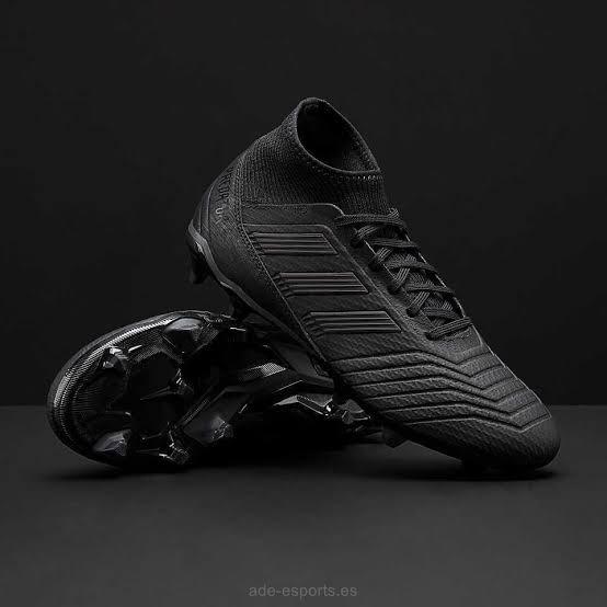 1a6eefbe2d670 Botas De Fútbol - adidas Predator 18.3 Fg - Negro -   1