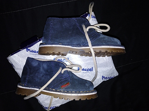 botas de gamuza azules marcel