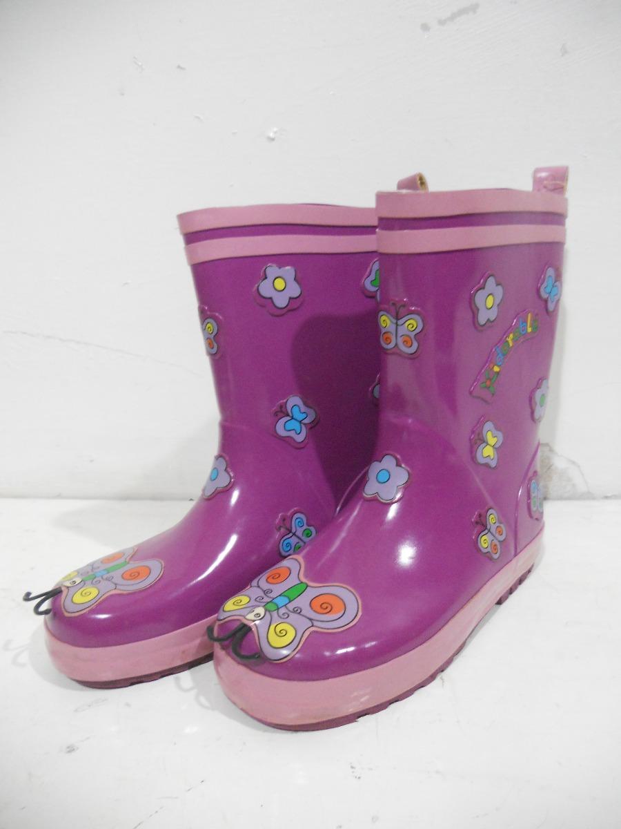01f7fa724 botas de hule lluvia para niñas talla kindorable 20cm  a636. Cargando zoom.