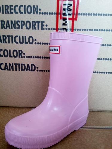 botas de lluvia 23/34 varón nena gummi original