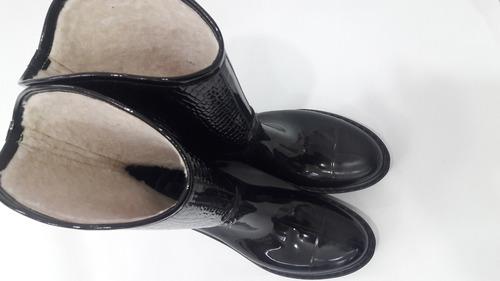 botas de lluvia! cortas forradas corderito invierno !divinas