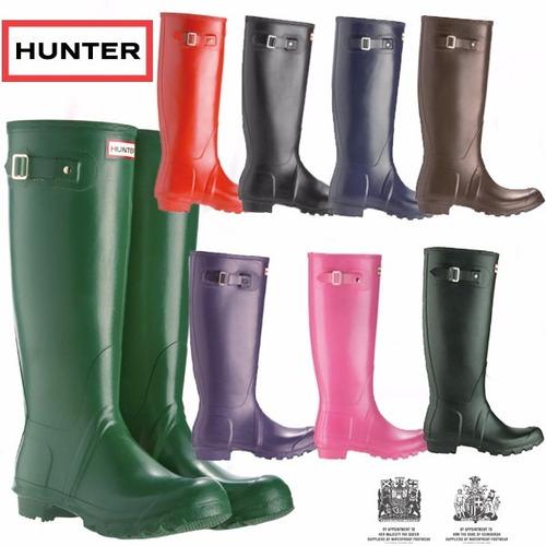 botas de lluvia largas marca hunter 100% original