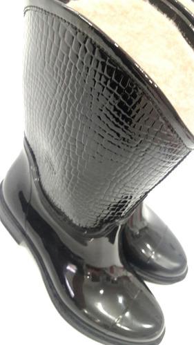 botas de lluvia mujer cortas forradas corderito invierno !