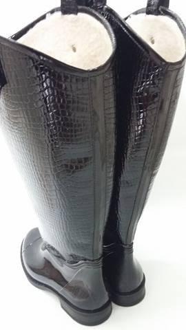 botas de lluvia mujer impermeables! y forradas corderito !!!