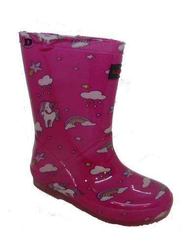 botas de lluvia nena gummi unicornios dreams calzado caballito