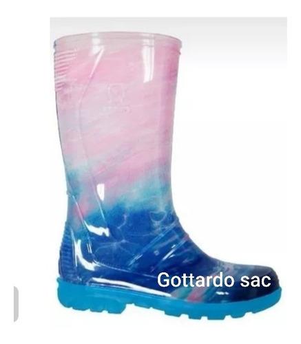 botas de lluvia para dama con diseño