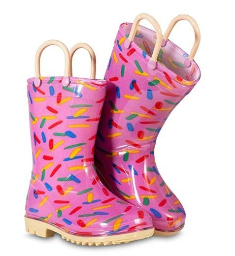 en stock 046ae e972c Botas De Lluvia Para Niña Impermeables 9 M Toddler Pink 2 J