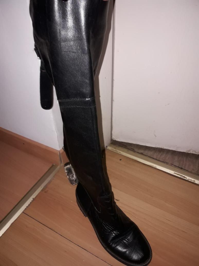 48b1c7f73a6 botas de mujer caña alta de cuero color negro n° 39. Cargando zoom.