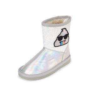 8ad73ed16ce Zapatos De Piso Beige Con Botas Ninas - Zapatos para Niñas Plateado en  Mercado Libre México