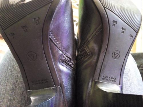 botas de piel negras nuevas  via uno