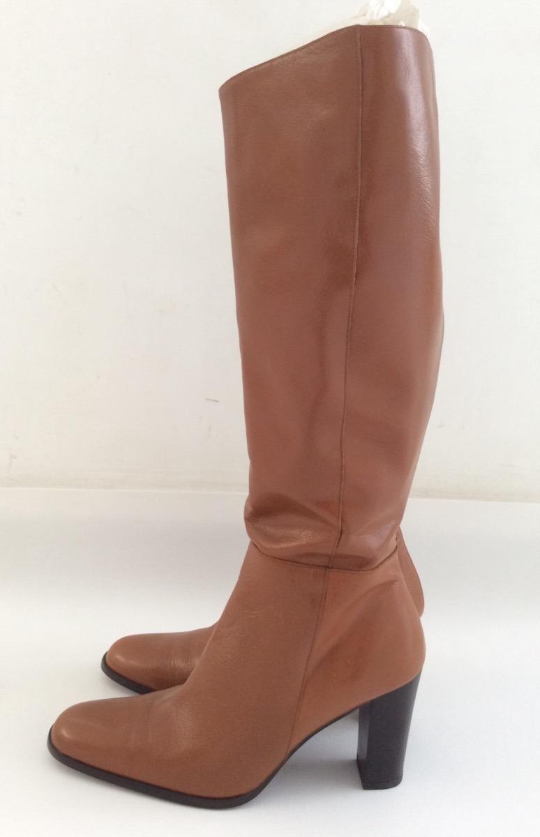 botas de piel para mujer marca mango color café claro