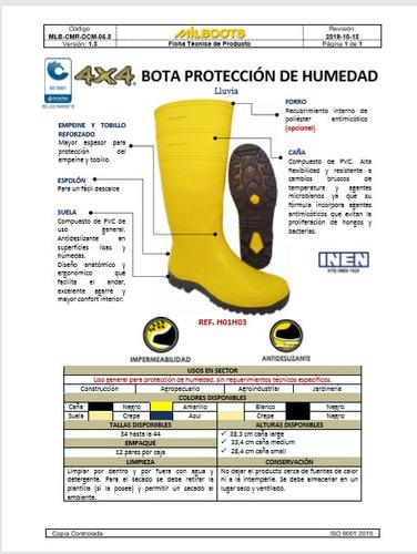 botas de pvc impermeable 4x4