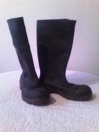 botas de seguridad de goma, punta de hierro, talla 43