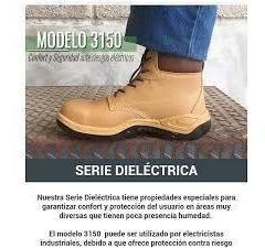 botas de seguridad dielectrica de cuero marca sicura