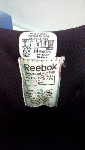 botas de seguridad reebok talla 44 (originales) oferta