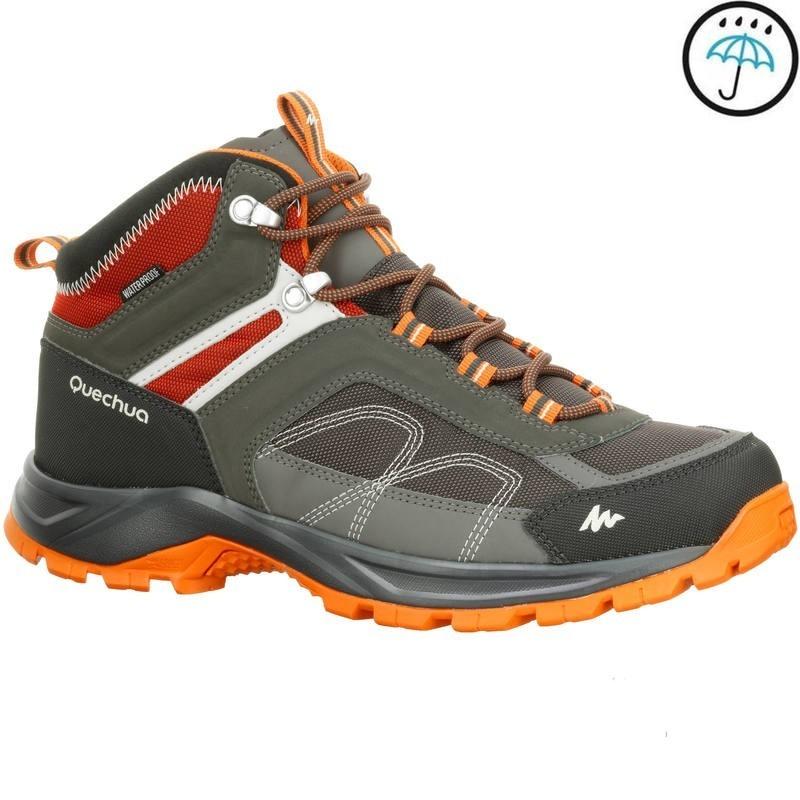 d3a060be066f0 botas de senderismo en montaña hombre mh100 mid impermeable. Cargando zoom.