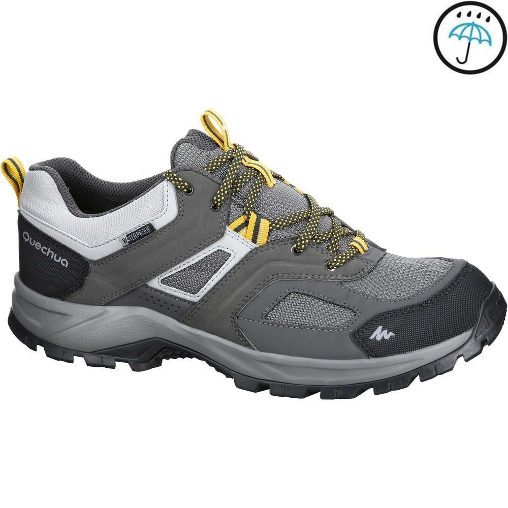 717e89a9a80 botas de senderismo montaña hombre mh100 impermeable gris. Cargando zoom.