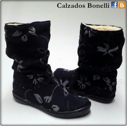 botas de tela a pedido, variados diseños.