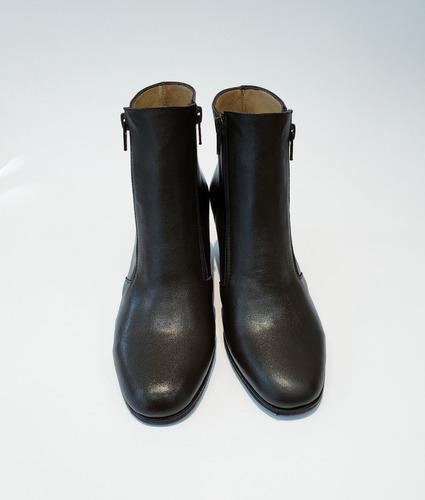botas de vestir 2 cierres cuero mujer invierno 2019 art 410