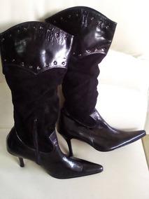 5b0e8d330e Botas De Vestir Para Dama. Negras. - Zapatos Negro en Mercado Libre ...