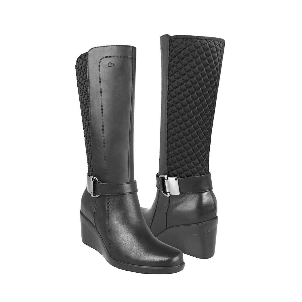 912018b2 Botas De Vestir Flexi Para Mujer Piel Negro 33909 - $ 1,179.00 en ...