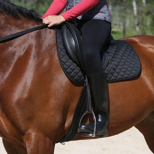 botas equitación para adulto negro para caballo vinipiel