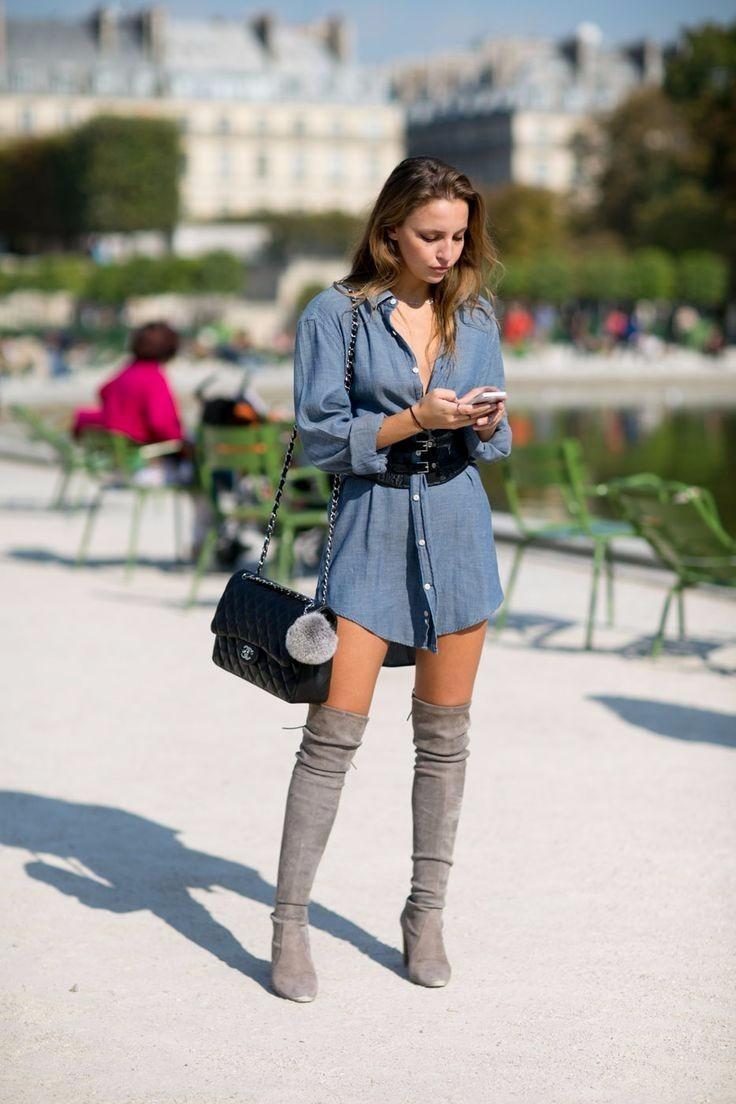 b1a18f5d2 botas extra largas grises tacón grueso de vestido o pantalón. Cargando zoom.