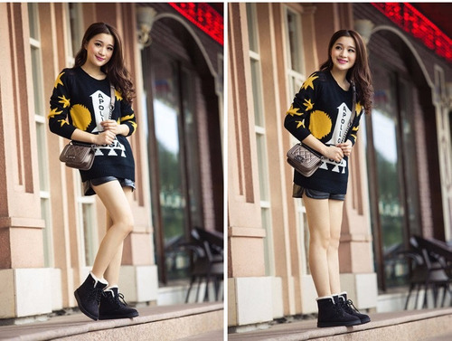 botas fashion invierno ankle fur lined warm thicken mujer --