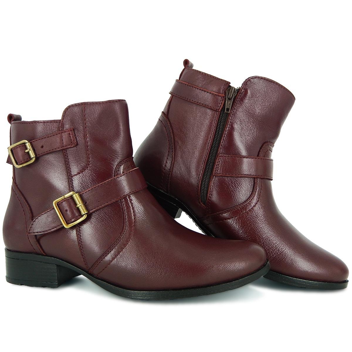 f418304cd8 botas femininas cano baixo em couro legítimo extra confort. Carregando zoom.