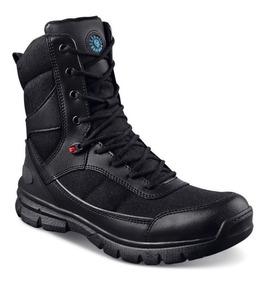 Botas Ferrato Para Guardia De Seguridad Negras Piel 6218