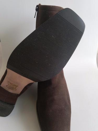 botas gamuza con cierre